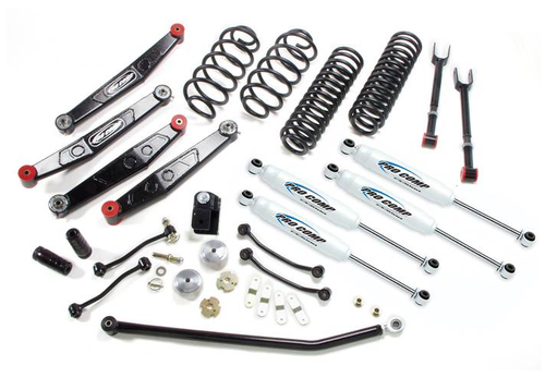 "2007-2016 Jeep Wrangler JK 4DR All Models & 2DR RUBICON Stage II 4wd 4"" Lift Kit - Pro Comp K3090BRH"