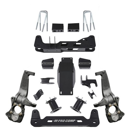 "2019 Chevy & GMC AT4 & Trailboss 4wd 4"" Lift Kit  - Pro Comp K1176B"