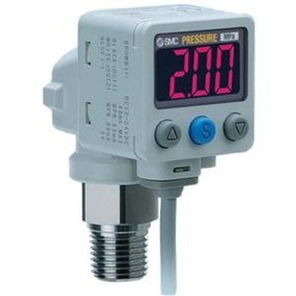 SMC ISE80-N02-R-X501 2-color digital press switch for fluids