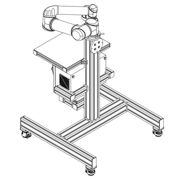 Universal Robots UR5 Modular Wheeled Cart