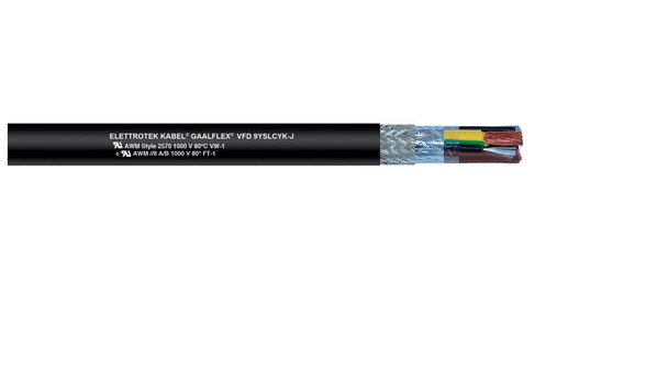 Elettrotek Gaalflex VFD 9YSLCY-J and 9YSLCYK-J