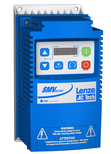 Lenze ESV751N02YXB SMV Frequency Inverter Nema 1 (IP31) 0.33 to 3 HP