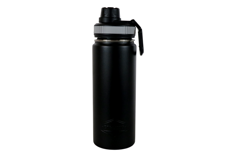 18oz Black Water Bottle-Front
