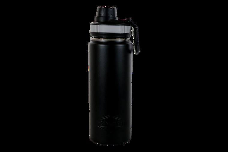 18oz Black Water Bottle-Front