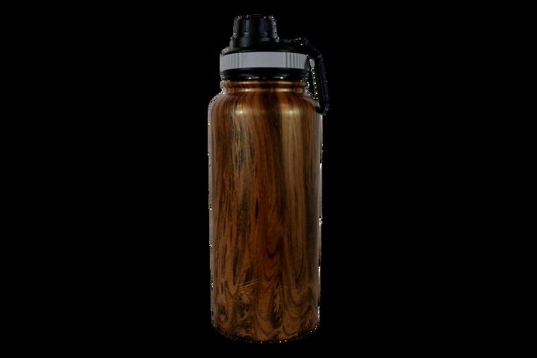 32oz Wood Grain Water Bottle-Front