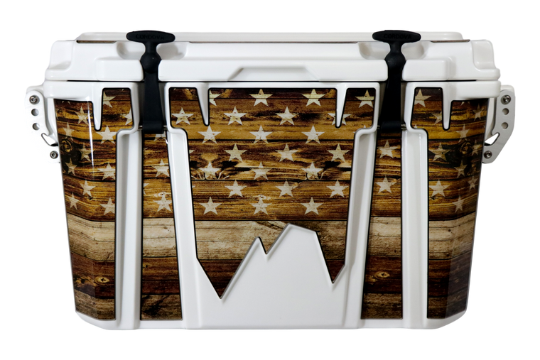 USA Flag Wood Companion - Front