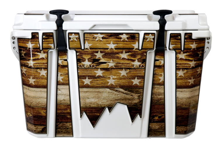 USA Flag Wood Adventurer - Front