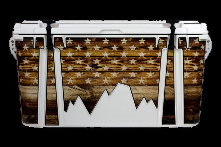 USA Flag Wood Journey - Front