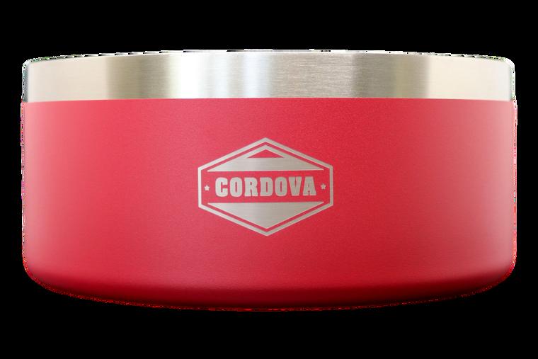 64oz Yukon Dog Bowl Red