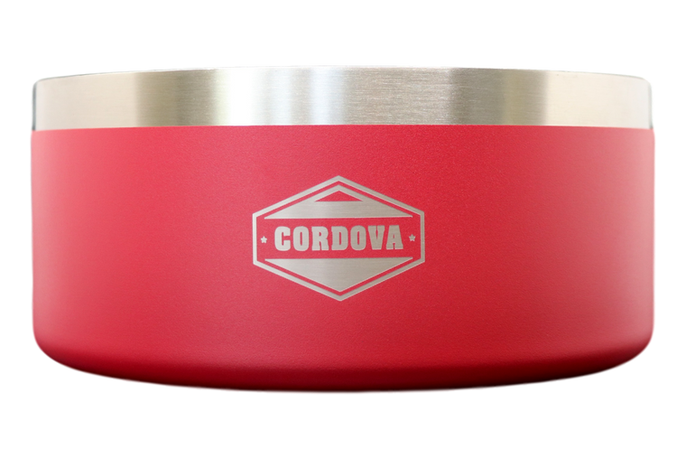 64oz Yukon Dog Bowl Red