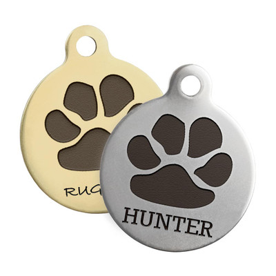 Paw Print Design Dog ID Tags