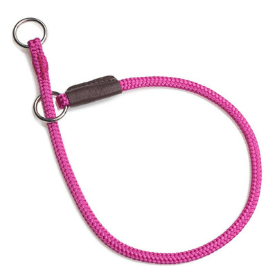 Mendota Diamond Braid Show Slip Collar Raspberry