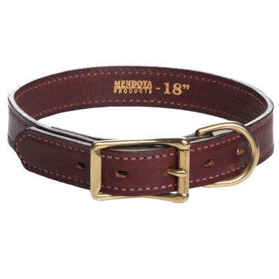 mendota brown leather collar