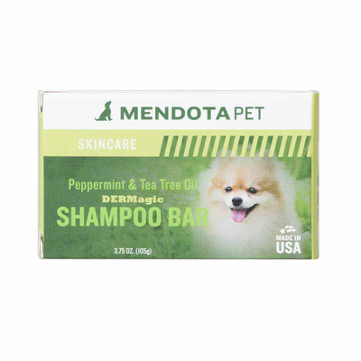 green Mendota peppermint pet soap bar