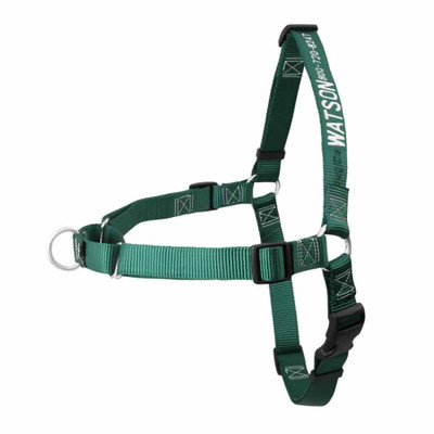 No Pull Embroidered Dog Harness Hunter Green
