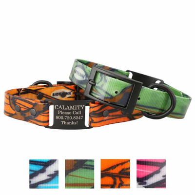 Stealth Personalized Camouflage ScruffTag Dog Collars