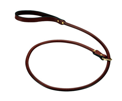 rolled leather slip leash