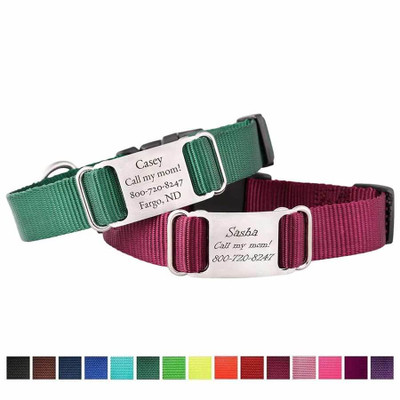 Nylon ScruffTag Personalized Dog Collars