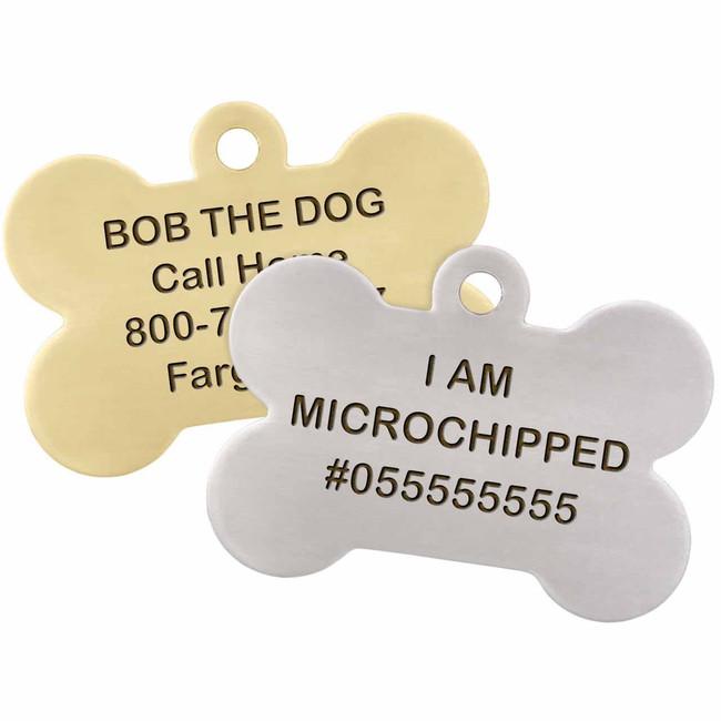 I am Microchipped Bone ID Tag - Group