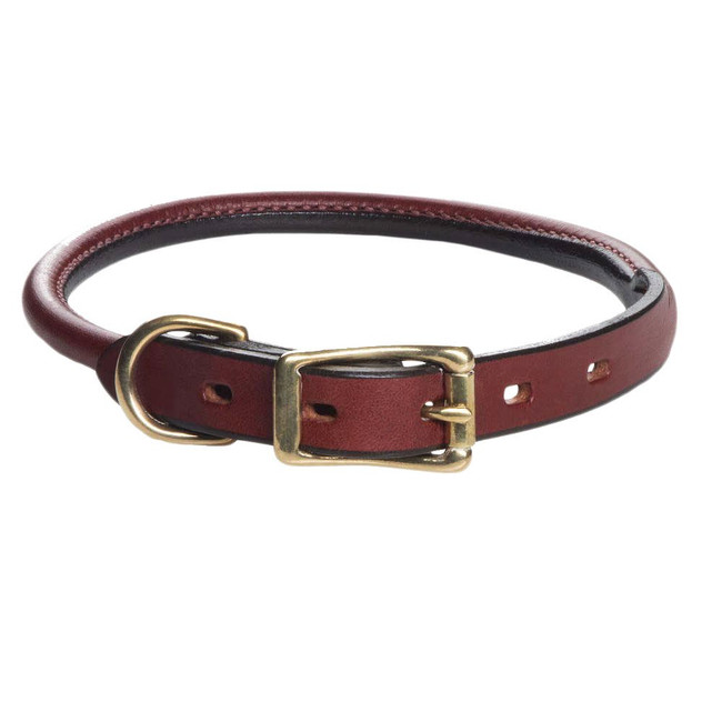 Mendota Rolled English Bridle Leather Collar