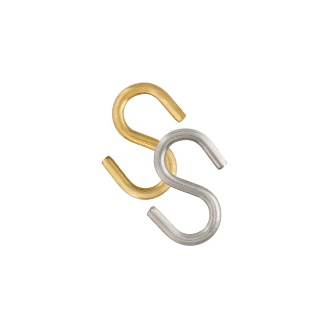 Brass and Stainless Steel S-Hooks