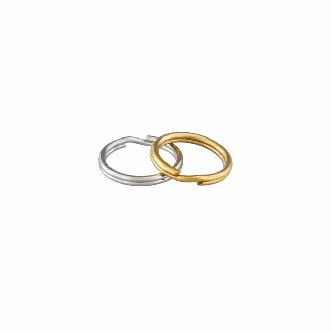 Stainless Steel and Brass Split Rings