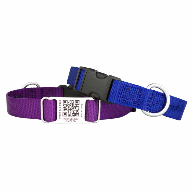 Nylon QR Code ScruffTag Dog Collar