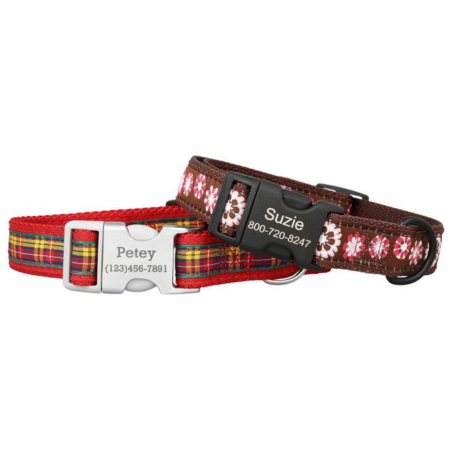 printed cloth dog collars