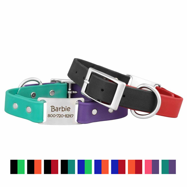 Two-Toned Waterproof ScruffTag Dog Collar