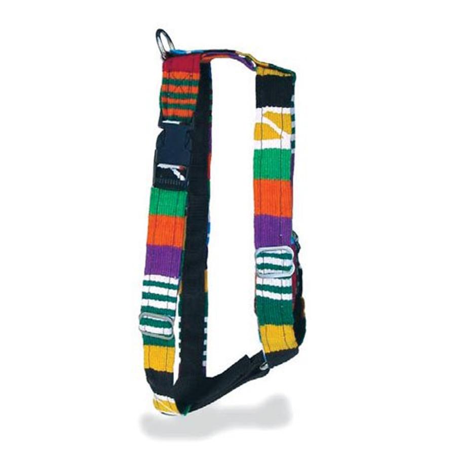 woven multicolor dog harness