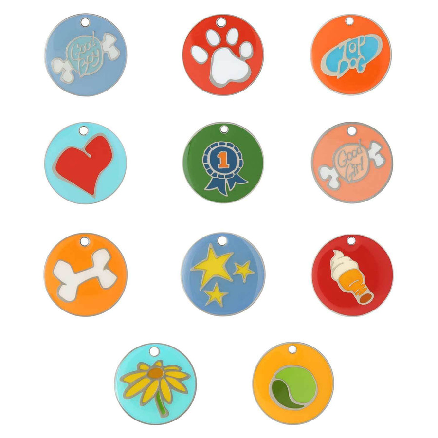 Enamel Designer Dog ID Tags by Andrew