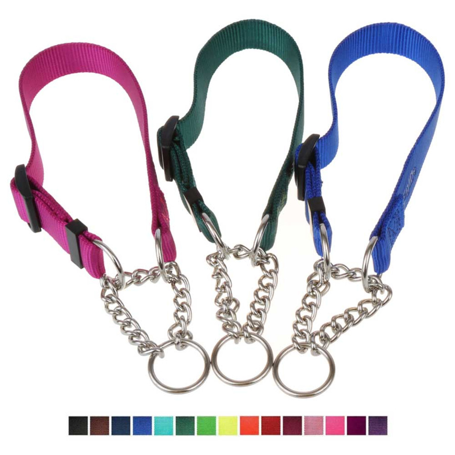 Nylon Chain Martingale Collars - 15 colors