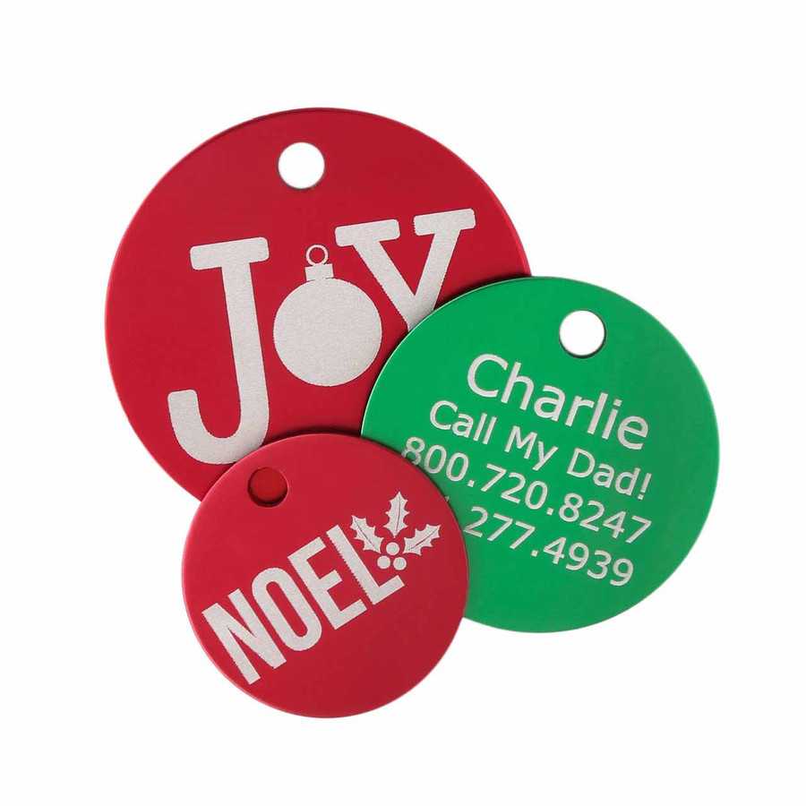 Christmas Dog ID Tags