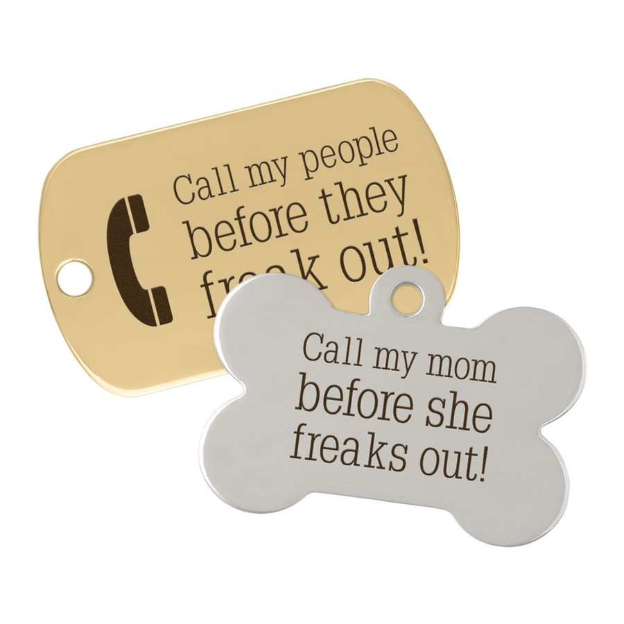 Call My People Pet ID Tag