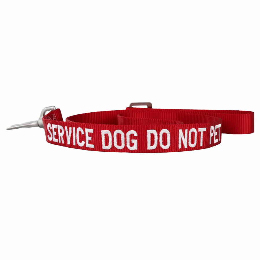 Embroidered Service Dog Nylon Leash