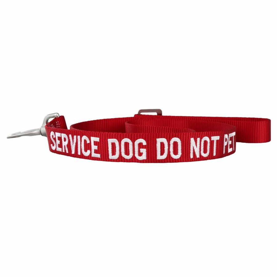 Embroidered Service Dog Nylon Leash