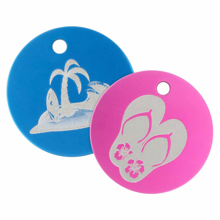 Signature Summertime Engraved Pet Tags