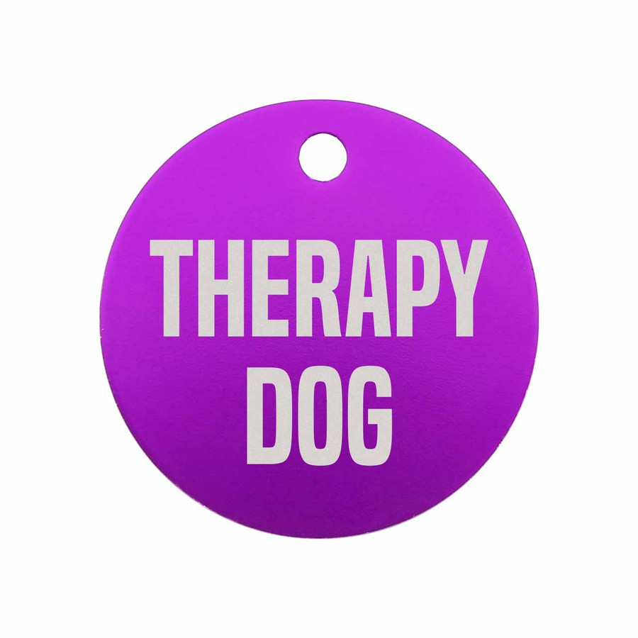 Therapy Dog Tag Purple
