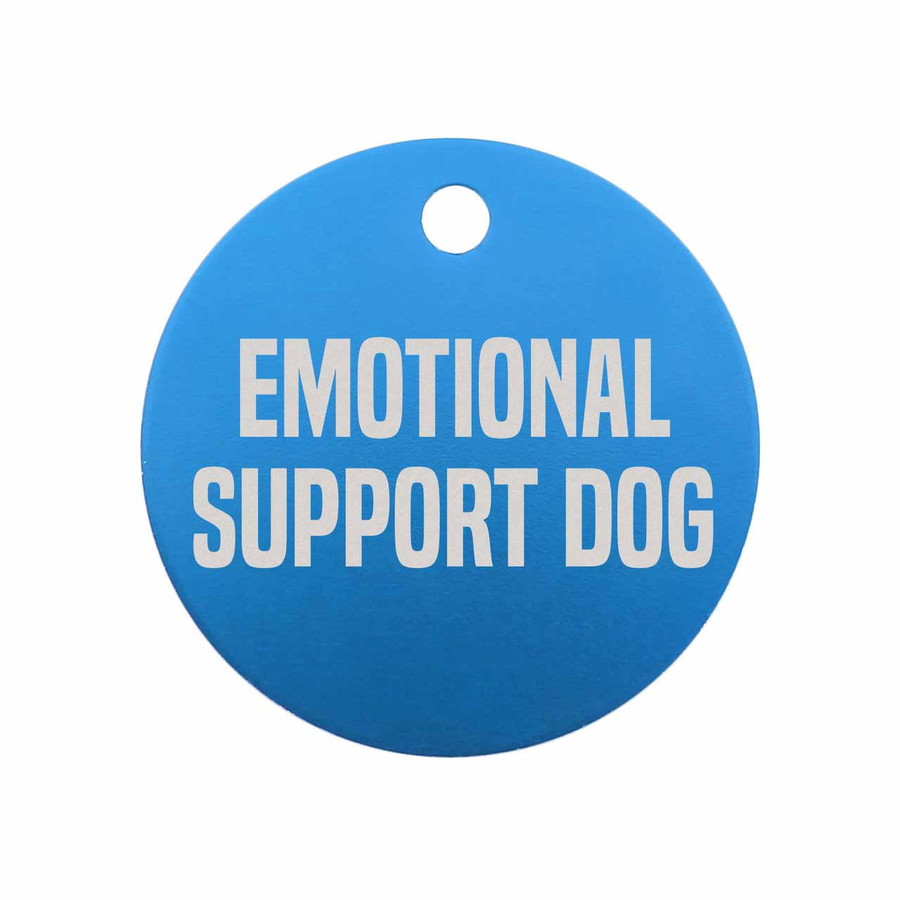 Emotional Support Dog Tag - Blue