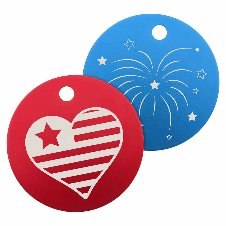 Signature 4th of July Dog ID Tags
