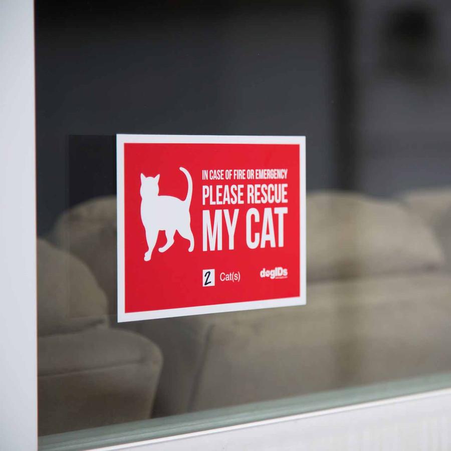 Please Rescue My Pet Window Stickers