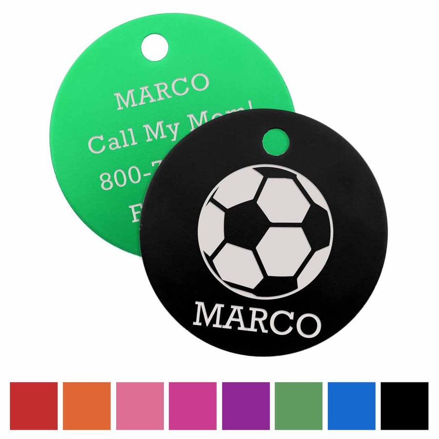 Signature Soccer Dog ID Tag