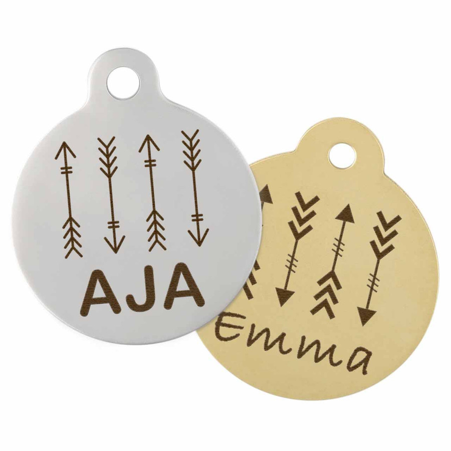 Arrow Design Dog Tag