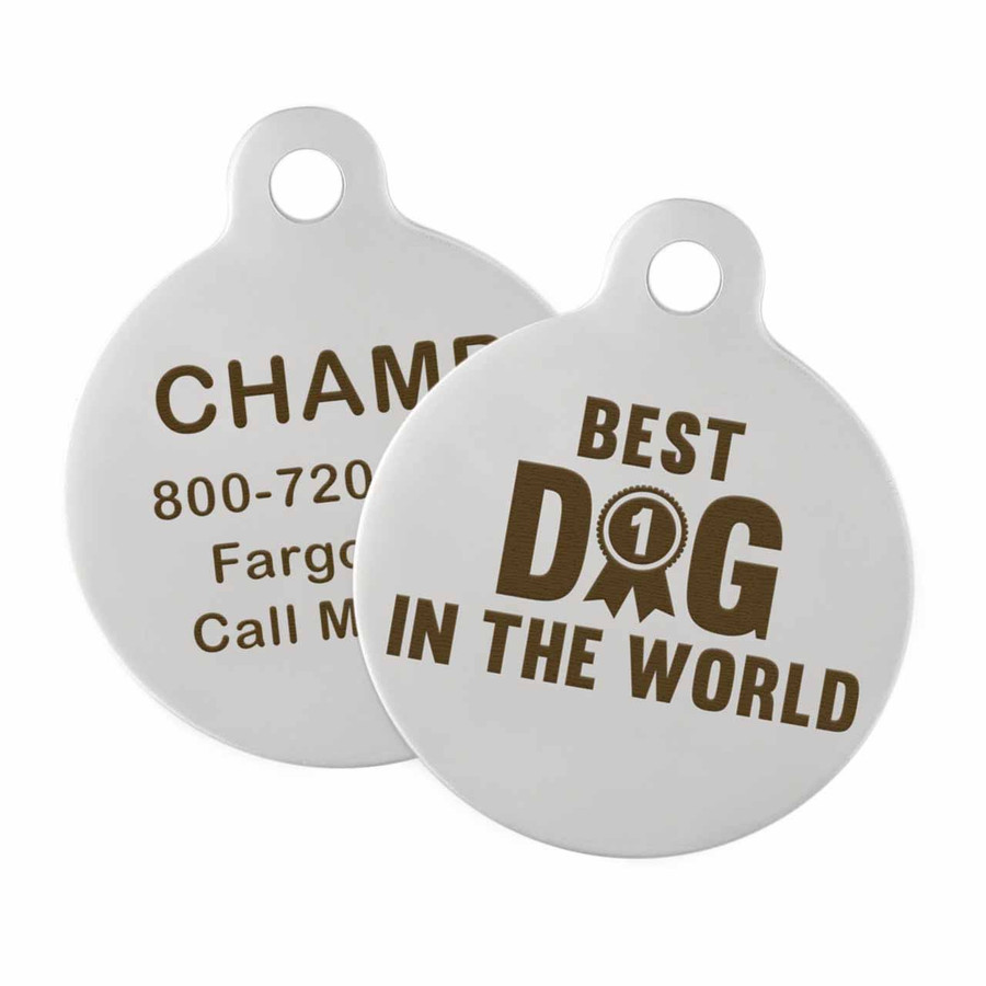 Best Dog in the World ID Tag