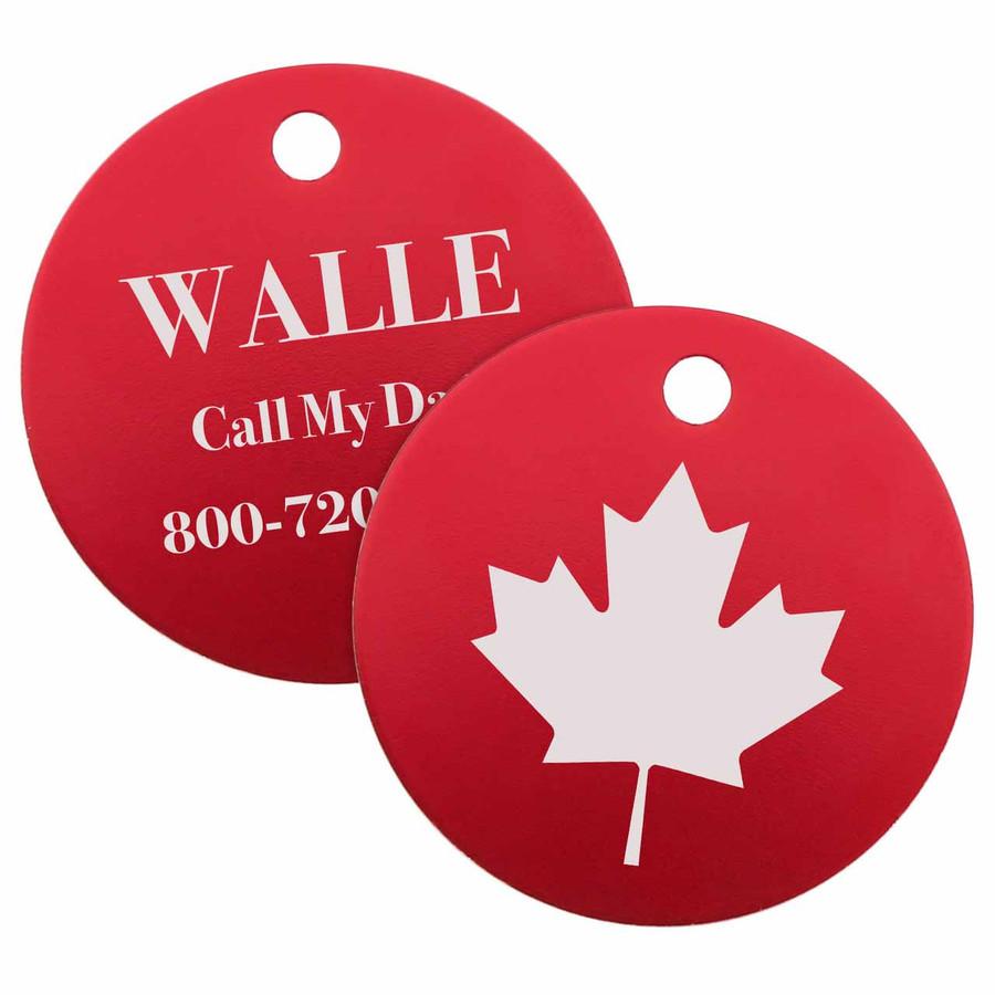 Signature Maple Leaf Dog ID Tag