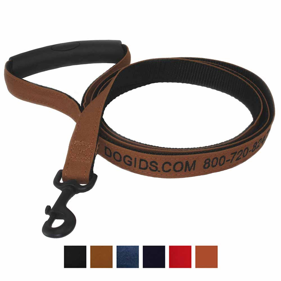 Canvas Personalized Dog Leash Swatches