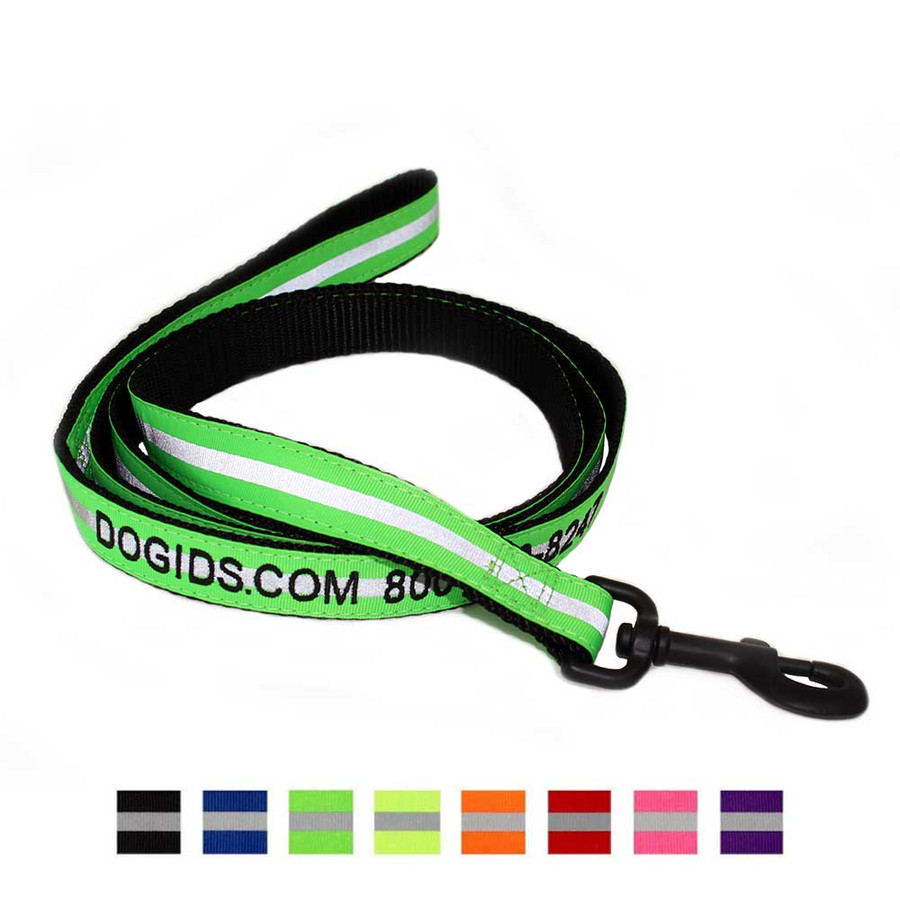 Embroidered Reflective Personalized Dog Leash
