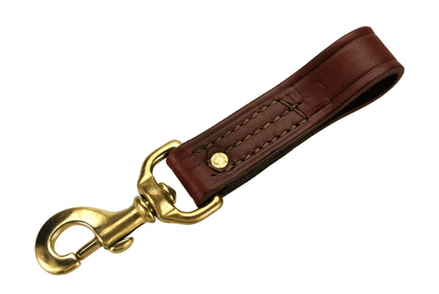 Mendota English Bridle Leather Belt Snap