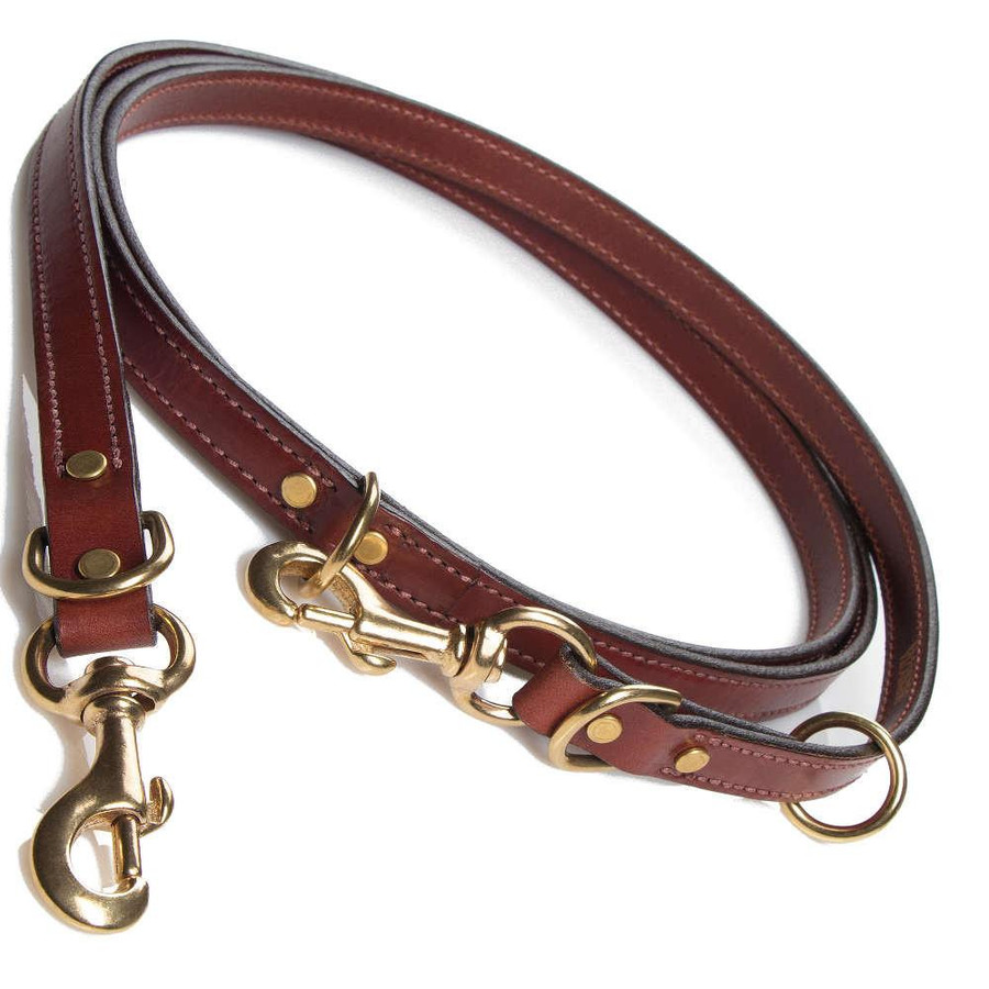 brown custom dog leash