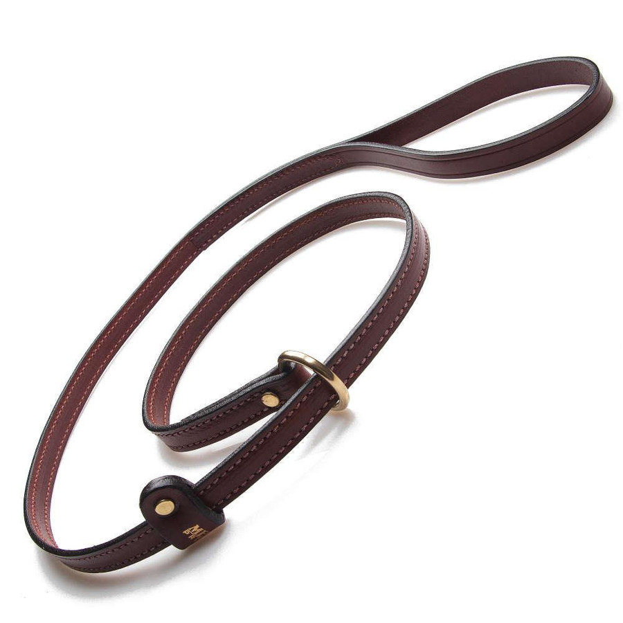 thin brown strip lead leash